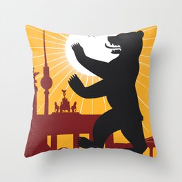Berlin vintage poster travel Throw Pillow