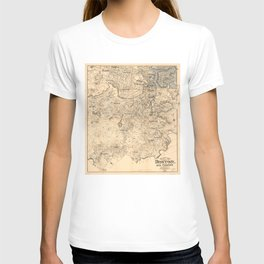 Map of the City of Boston and Vicinity (1907) T-shirt