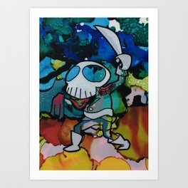 Commodore Skull Waves his Cutlass Art Print