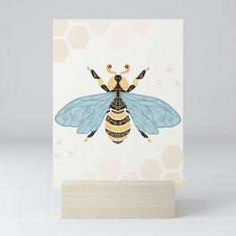 Cute Honey Bee Pattern - Save The Bees Mini Art Print