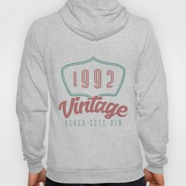 28 th Birthday Celebration Gift Born In 1992 Vintage Party Birth Anniversary Hoody