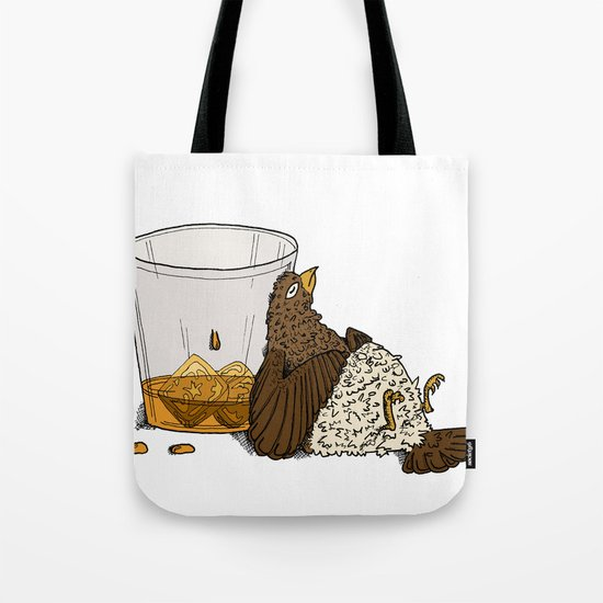 Thirsty Grouse - Colored with White Background Tote Bag