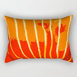 Orange Bongo Stripes Rectangular Pillow
