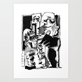 Chapter One: Never Talk with Strangers - b&w Art Print
