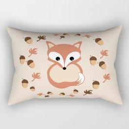 Fox in autumn Rectangular Pillow