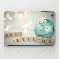 merry christmas iPad Cases featuring Merry Christmas by Yuliya
