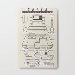 Super Entertainment System (light) Metal Print