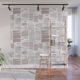 George Washington's Letters // Red Ink Wall Mural