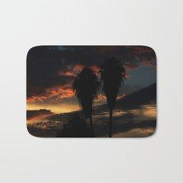 Palms On a Sunset Bath Mat