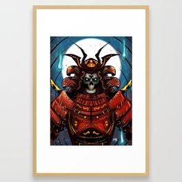 Skull Samurai Framed Art Print