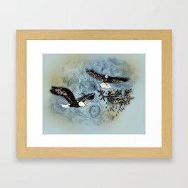 Calling Eagle Framed Art Print