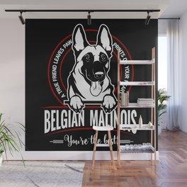 BELGIAN MALINOIS THE BEST FRIEND Wall Mural