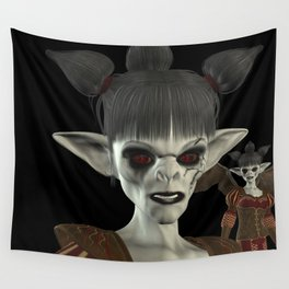 Darkness Comes Miss Piggy Wall Tapestry