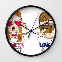 LOVEISPEACE&FREEDOM Wall Clock