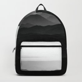 Black and white mountains Backpack