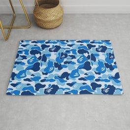 BATHING APE - BLUE WOODLAND CAMO Rug