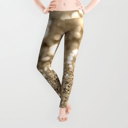 Champagne Gold Lady Glitter #1 #shiny #decor #art #society6 Leggings