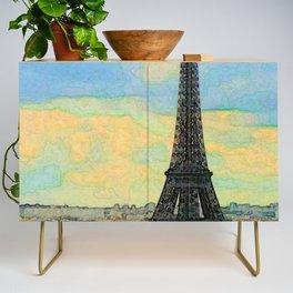 Watercolor Dream of Paris Credenza