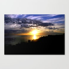 Sunrise over Port Philip Bay - Melbourne Canvas Print