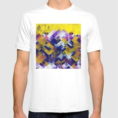 Abstract Forest Mens Fitted Tee MEDIUM White