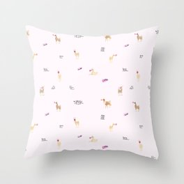 Llama Bubbles Throw Pillow