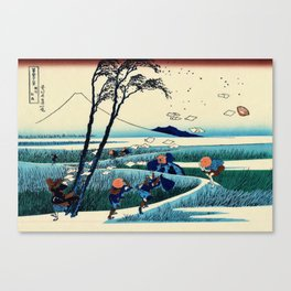 Mt,FUJI36view-Sunshu Ejiri - Katsushika Hokusai Canvas Print