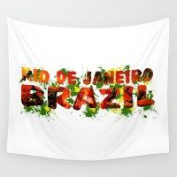 rio de janeiro Wall Tapestries featuring Rio de Janeiro by J. Ekstrom
