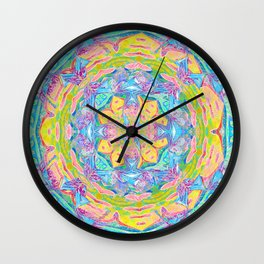 Gentleness and Sweetness Mandala Wall Clock