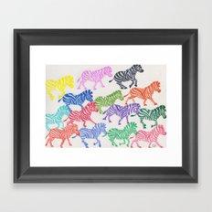 Rainbow Herd Framed Art Print