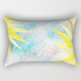 Yellow In glitter Rectangular Pillow