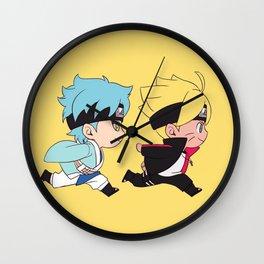 Chibi Boruto and Mitsuki Wall Clock