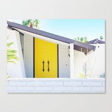 Yellow Door, Palm Springs Canvas Print