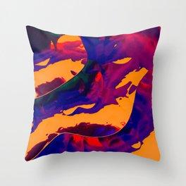 Vapor mango Throw Pillow