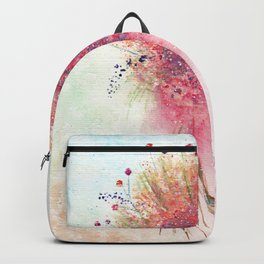 Watercolor Loose Flowers Bouquet Backpack