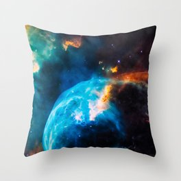 Bubble Nebula, Galaxy Background, Universe Large Print, Space Wall Art Decor, Deep Space Poster Throw Pillow