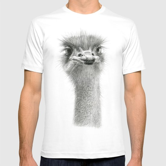 Cute Ostrich Expression SK055 T-shirt