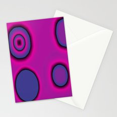 pink and purple circles abstract Stationery Cards