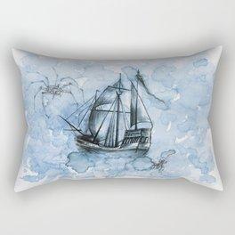 In the Blue Mist Rectangular Pillow