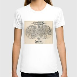 Vintage Map of The World (1598) T-shirt