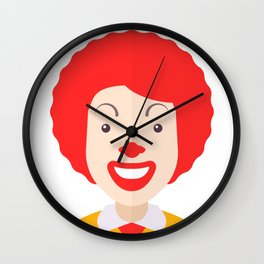 Ronald McDonald Wall Clock