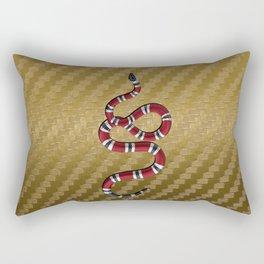 Gold Carbon snake Rectangular Pillow