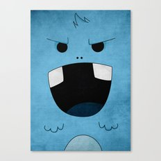 blue monster Canvas Print