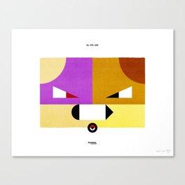PKMNML #019 - 020 (EVOLUTION) RAT TATA - RATI CATE Canvas Print