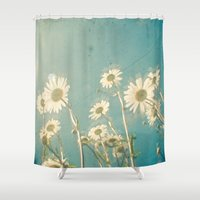 forever young Shower Curtains featuring Forever Young by Cassia Beck