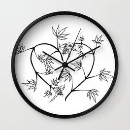 Cannabis Heart Wall Clock
