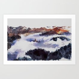 Hidden in the heights Art Print