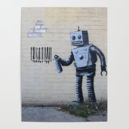 Banksy Robot (Coney Island, NYC) Poster