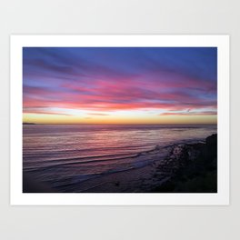On Dec. 4, 2016 at 4:58 pm, San Pedro, CA Art Print