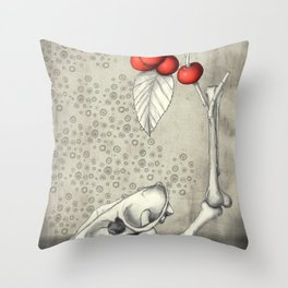 Cerasus Domestica Throw Pillow
