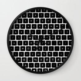 Universal Keyboard Wall Clock